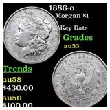 1886-o Morgan $1 Grades Select AU