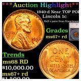 *Highlight* 1940-d Near TOP POP! Lincoln 1c Graded