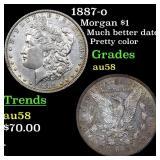 1887-o Morgan $1 Grades Choice AU/BU Slider