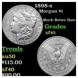 1898-s Morgan $1 Grades xf+