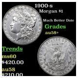 1900-s Morgan $1 Grades Choice AU/BU Slider+