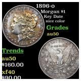 1896-o Morgan $1 Grades AU, Almost Unc