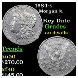1884-s Morgan $1 Grades AU Details