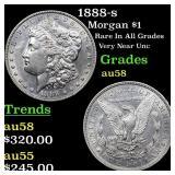 1888-s Morgan $1 Grades Choice AU/BU Slider