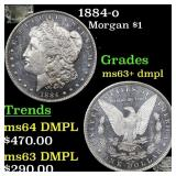 1884-o Morgan $1 Grades Select Unc+ DMPL