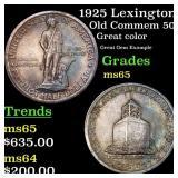 1925 Lexington Old Commem 50c Grades GEM Unc