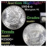 *Highlight* 1904-o Morgan $1 Grades GEM++ Unc