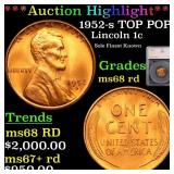*Highlight* 1952-s TOP POP! Lincoln 1c Graded ms68