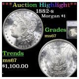 *Highlight* 1882-s Morgan $1 Graded ms67