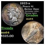 1923-s Peace $1 Grades Choice Unc
