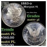 1883-o Morgan $1 Grades Choice Unc+ PL