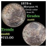 1878-s Morgan $1 Grades GEM+ Unc