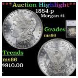 *Highlight* 1884-p Morgan $1 Graded ms66