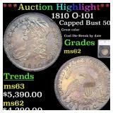 *Highlight* 1810 O-101 Capped Bust 50c Graded ms62