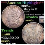 *Highlight* 1892-cc Morgan $1 Graded ms65+