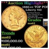 *Highlight* 1880-cc TOP POP! Liberty $10 Graded ms