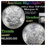 *Highlight* 1900-p Near TOP POP! Morgan $1 Graded