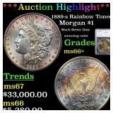 *Highlight* 1889-s Rainbow Toned Morgan $1 Graded