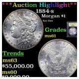 *Highlight* 1884-s Morgan $1 Graded BU+