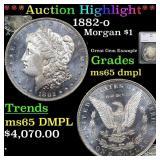 *Highlight* 1882-o Morgan $1 Graded ms65 dmpl