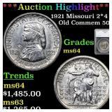 *Highlight* 1921 Missouri 2*4 Old Commem 50c Grade