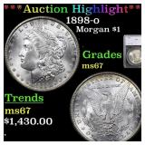 *Highlight* 1898-o Morgan $1 Graded ms67