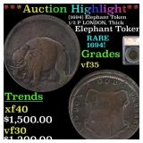 *Highlight* (1694) Elephant Token 1/2 P LONDON, Th