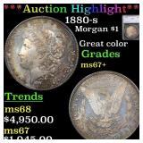 *Highlight* 1880-s Morgan $1 Graded ms67+