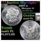 *Highlight* 1897-s Morgan $1 Graded ms65 PL