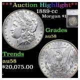 *Highlight* 1889-cc Morgan $1 Graded au58