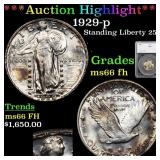 *Highlight* 1929-p Standing Liberty 25c Graded ms6