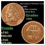 1863 Indian F-NY-630-L-7a R2 cwt Grades vf+