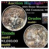*Highlight* 1925 Stone Mountain Old Commem 50c Gra