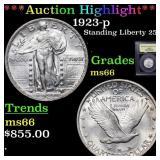 *Highlight* 1923-p Standing Liberty 25c Grades GEM