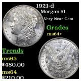1921-d Morgan $1 Grades Choice+ Unc