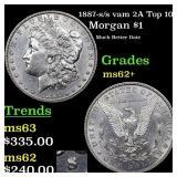 1887-s /s vam 2A Top 100 Morgan $1 Grades Select U