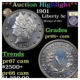 ***Auction Highlight*** 1901 Liberty Nickel 5c