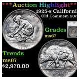 *Highlight* 1925-s California Old Commem 50c Grade