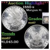 *Highlight* 1880-s Morgan $1 Graded ms67