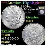 *Highlight* 1901-p Morgan $1 Graded Select Unc