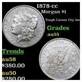1878-cc Morgan $1 Grades Choice AU