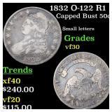 1832 O-122 R1 Capped Bust 50c Grades vf++