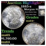 *Highlight* 1885-s Morgan $1 Graded ms64+