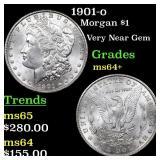 1901-o Morgan $1 Grades Choice+ Unc