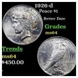 1926-d Peace $1 Grades Choice Unc