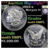 *Highlight* 1882-s Morgan $1 Graded GEM Unc DMPL