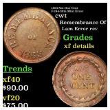 1863 Not One Cent F-244-381a Mint Error cwt Grades