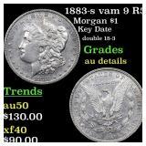 1883-s vam 9 R5 Morgan $1 Grades AU Details