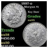 1897-o Morgan $1 Grades Choice AU