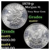 1879-p Morgan $1 Grades Choice+ Unc